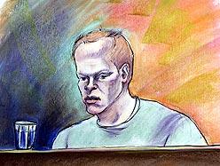 Jeremy Steinke in court. Image courtesy of Medicine Hat News
