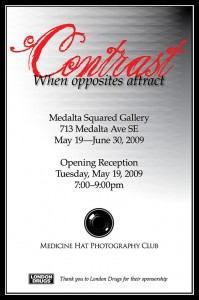 Contrast Invite/Poster