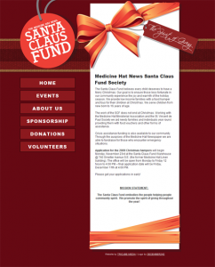 New look for the Santa Claus Fund website