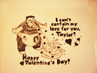 My zombie valentine for Taylor