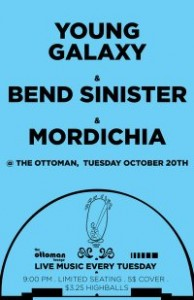 Young Galaxy, Bend Sinister, Modichia Poster
