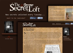 The Secret Loft website screenshot montage