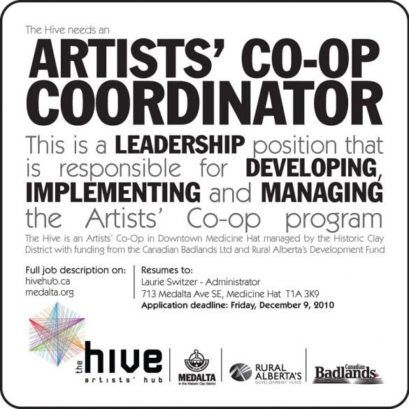 Artist's Co-op Coordinator