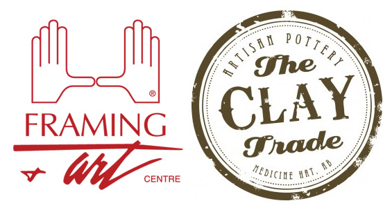 Framing Art Centre & Clay Trade Logos