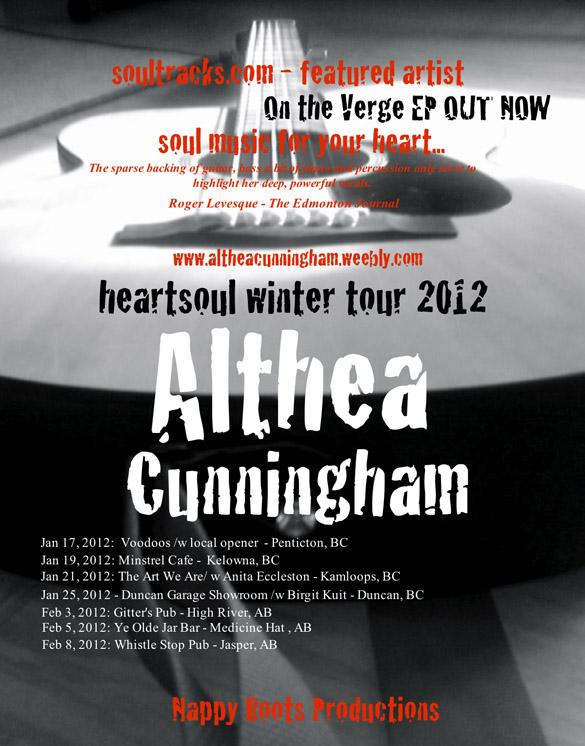 Althea Cunningham - Heartsoul Winter Tour 2012 - February 5th, 2012