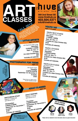 Fall Art Program Poster